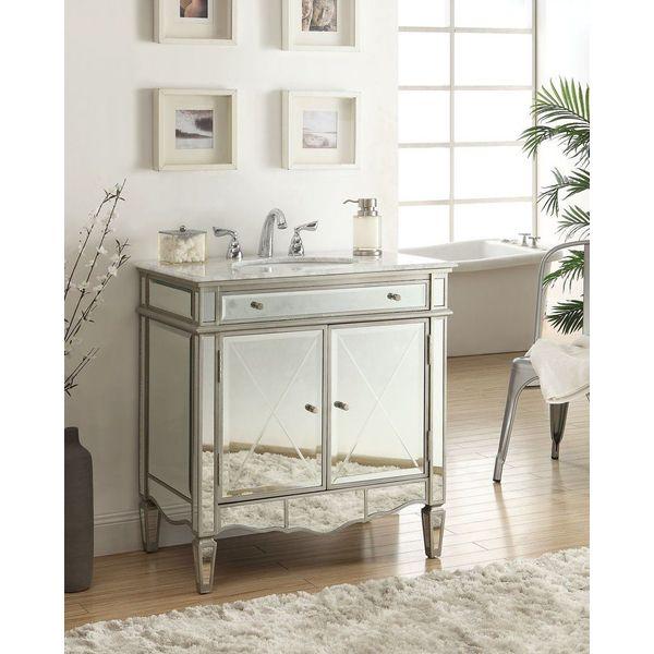 32-inch Modern Style Mirrored Ashmont Bathroom Sink Vanity