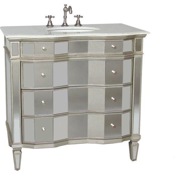 36-inch Mirrored Bathroom Sink Vanity