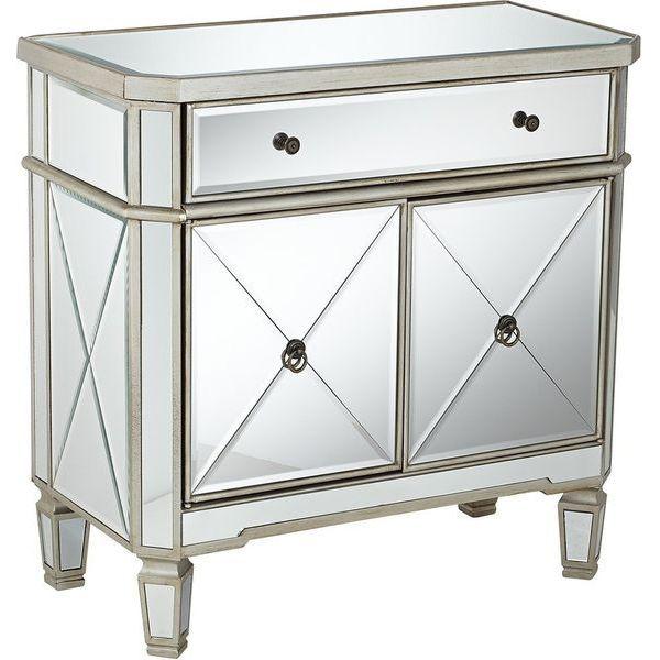 Powell Mirrored 1-Drawer, 2-Door Vanity