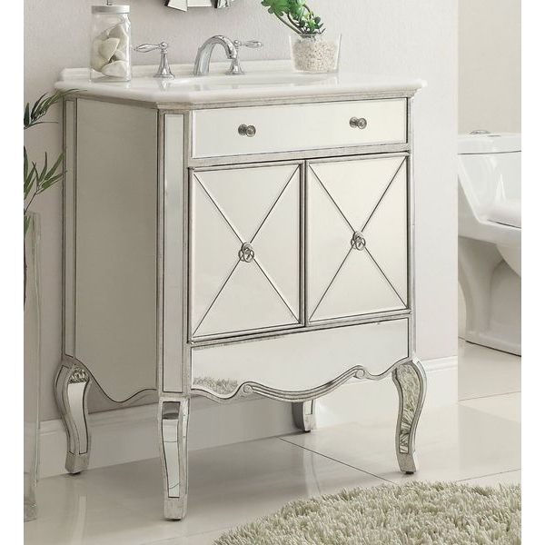 30-inch Mirrored Adelisa Bathroom Sink Vanity