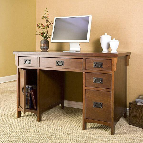 Southern Enterprises Mahogany Mission Desk