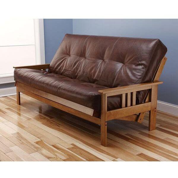 Monterey Futon Sofa with Oregon Trail Saddle Mattress