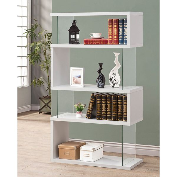 Coaster Modern Bookshelf, White