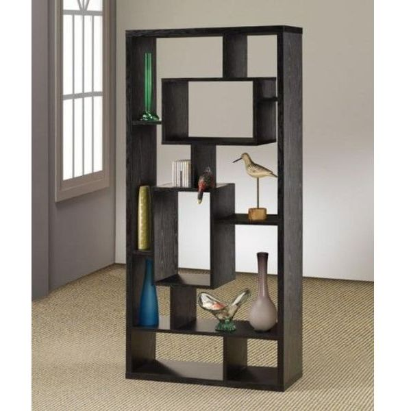 Asymmetrical Cube Bookcase with Shelves