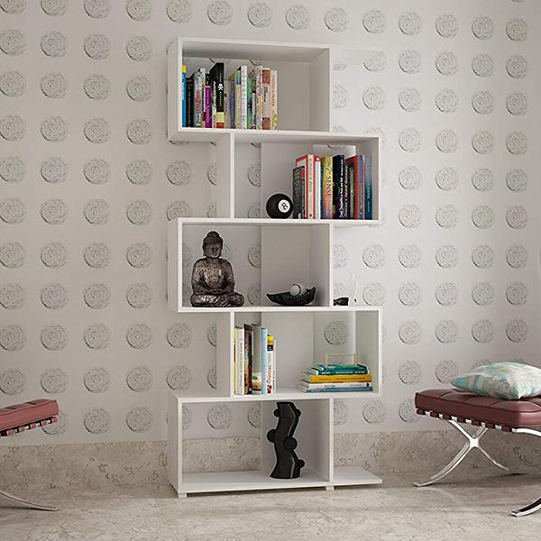 Manhattan Comfort Petrolina Collection Modern Z-Shelf Style Bookcase
