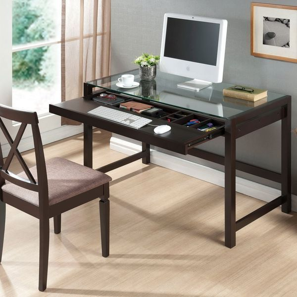Baxton Studio Idabel Dark Brown Wood Modern Desk
