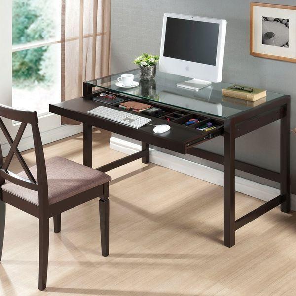Baxton Studio Idabel Dark Brown Wood Modern Desk