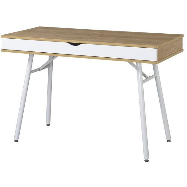 Techni Mobili Modern Computer Desk with Storage, Pine