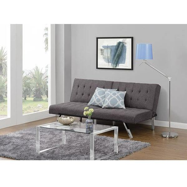 Coaster Black Metal Modern Futon Sofa Couch Frame