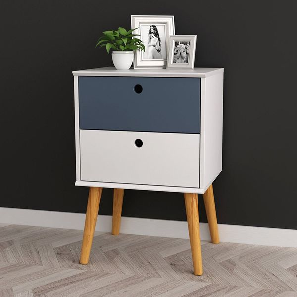 eHomeProducts 2-Drawer Modern Nightstand