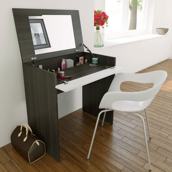 Nexera Allure Vanity with Storage, Ebony and White