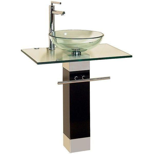 23-Inch ModernTempered Glass Bathroom Vanity