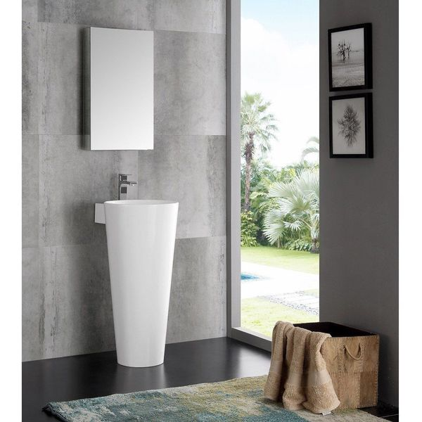 DreamLine Modern 10-Inch Bathroom Vanity, Mahogany