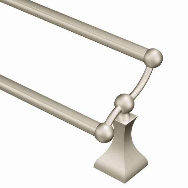 Moen Retreat 24-Inch Brushed Nickel Double Towel Bar