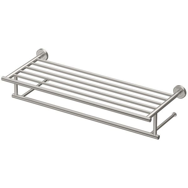 Gatco Latitude II Minimalist Satin Nickel Towel Rack
