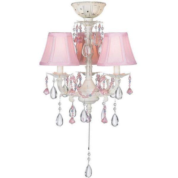 Pretty-in-Pink Pull-Chain Ceiling Fan Light Kit