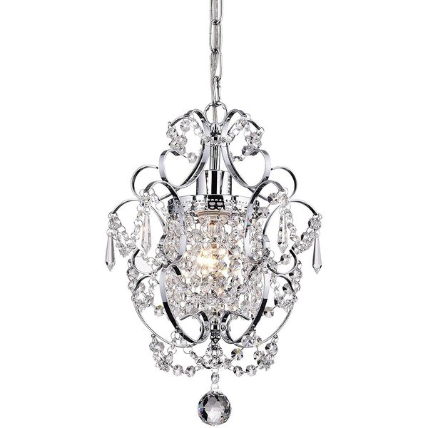 Go&So 1-Light Crystal Mini Chandelier