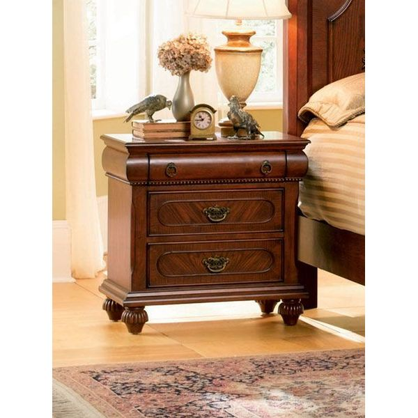 Coaster Isabella 3 Drawer Nightstand In Oak Finish