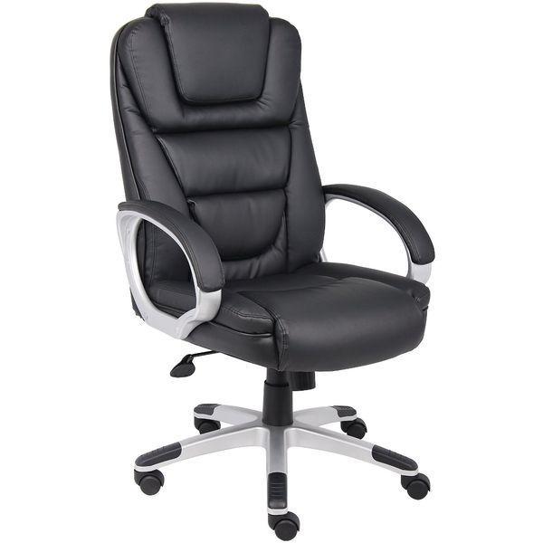 Boss Black LeatherPlus Office Chair