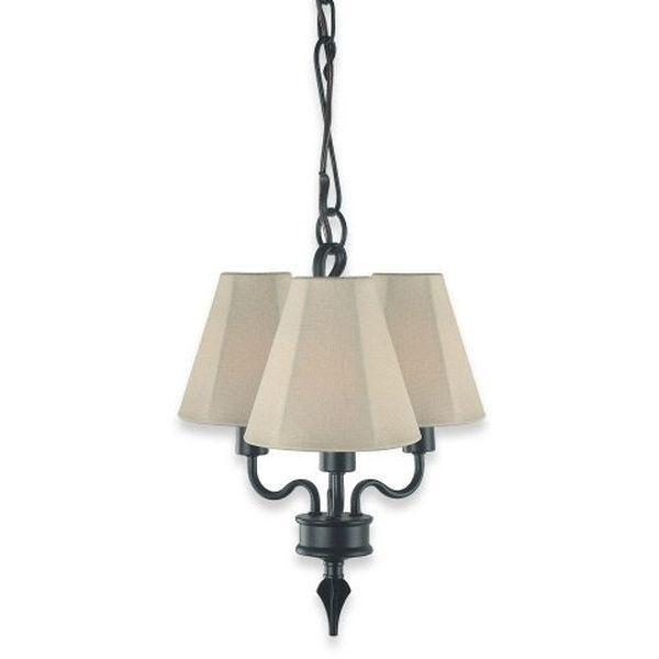 Royce Lighting Black 3-Light Indoor/Outdoor Chandelier
