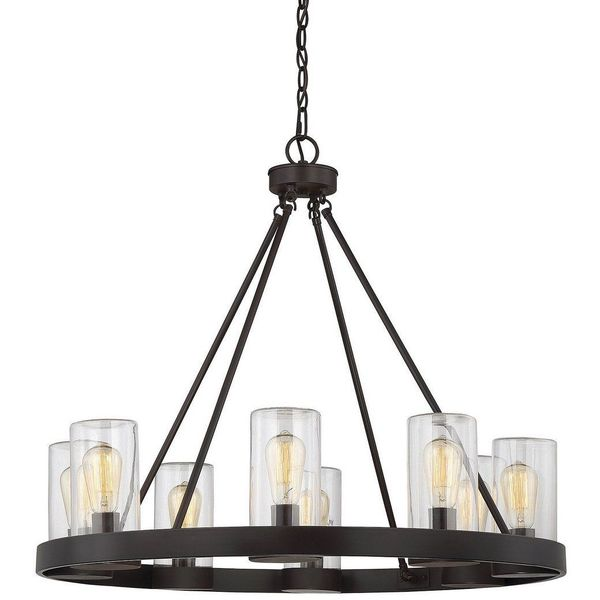 Savoy House Inman 8-Light Outdoor Chandelier, English Bronze Finish