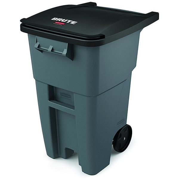 Rubbermaid Commercial Brute Rollout Container, 50 Gallons