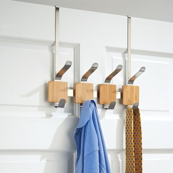 InterDesign Formbu Brushed Stainless Steel Over-the-Door Rack