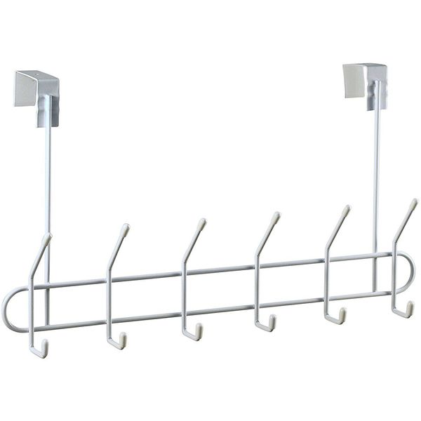 Spectrum Black Over-The-Door Multi-Hook Rack