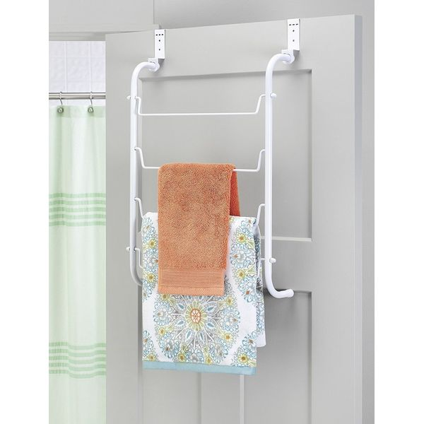 White Over-the-Door Towel Rack by Whitmor
