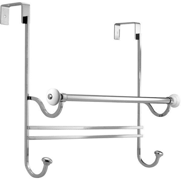 InterDesign York Over-the-Shower-Door Towel Rack Combo