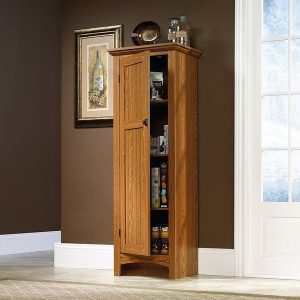 Sauder Summer Home Pantry, Carolina Oak Finish