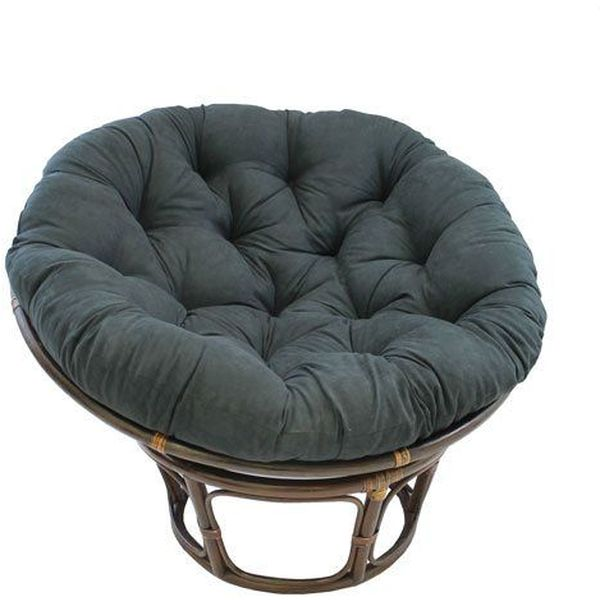 International Caravan Rattan 42-inch Papasan Chair with Micro Suede Cushion