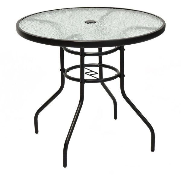 Seville Classics 3-Piece Folding All Weather Aluminum Bistro Table/Chair Set, Black