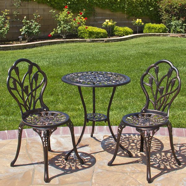 Best Choice Products Cast Aluminum Patio Bistro Set in Antique Copper