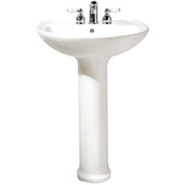 American Standard Cadet Pedestal Top and Leg with 4-Inch Centerset Holes, White