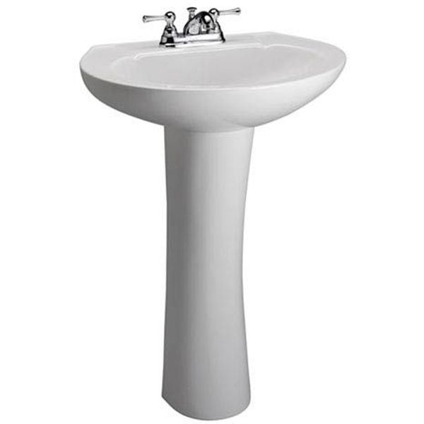 Barclay Hampshire 450 Pedestal Lavatory in White