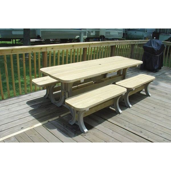 Picnic Tables Easy Home Concepts - Ready to assemble picnic table
