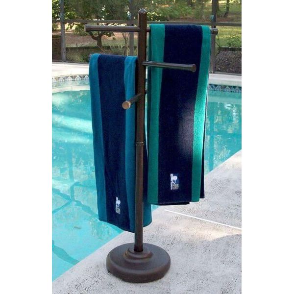 Bronze Outdoor Spa and Pool Towel Rack