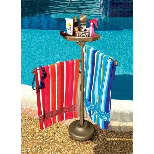 Bronze Outdoor Towel Holder