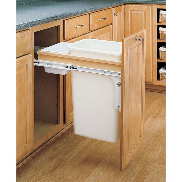 Rev-A-Shelf - 50 Quart Top Mount Waste Container