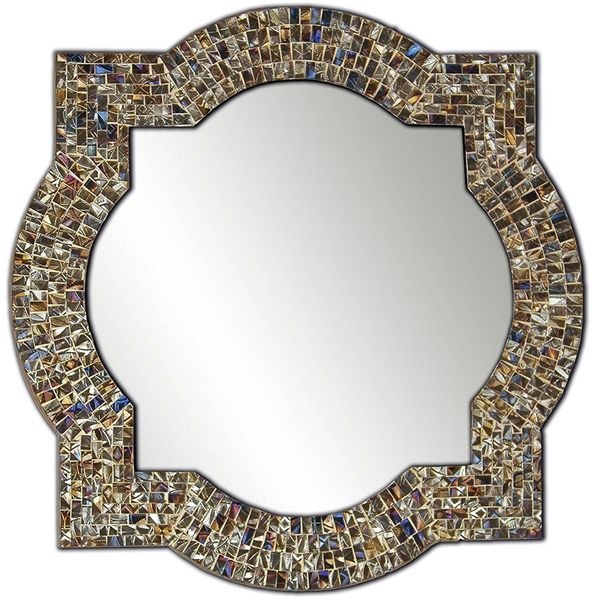 DecorShore Mosaic Glass Quatrefoil Mirror