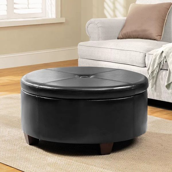 Winston Large Round Storage Ottoman