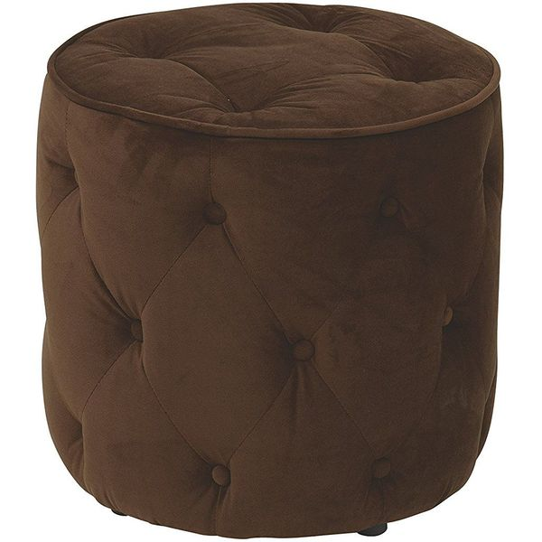 Avenue Six Curves Tufted Round Ottoman