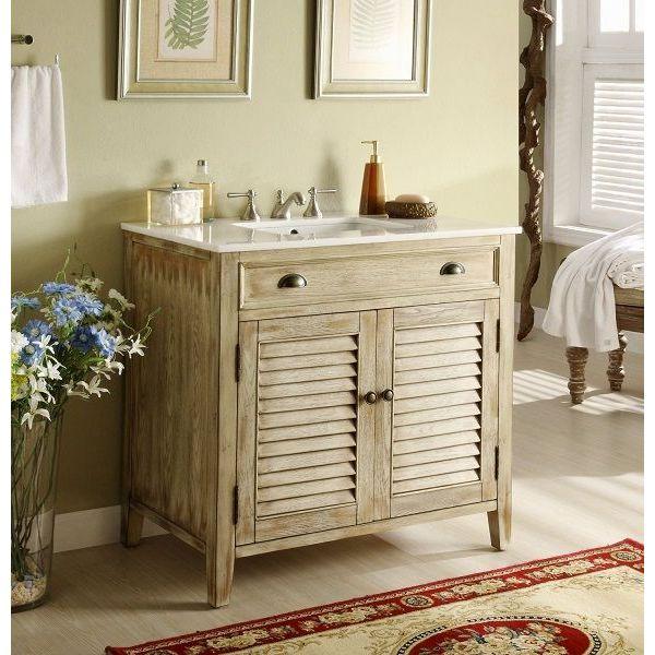 36-inchAbbeville Rustic Bathroom Sink Vanity