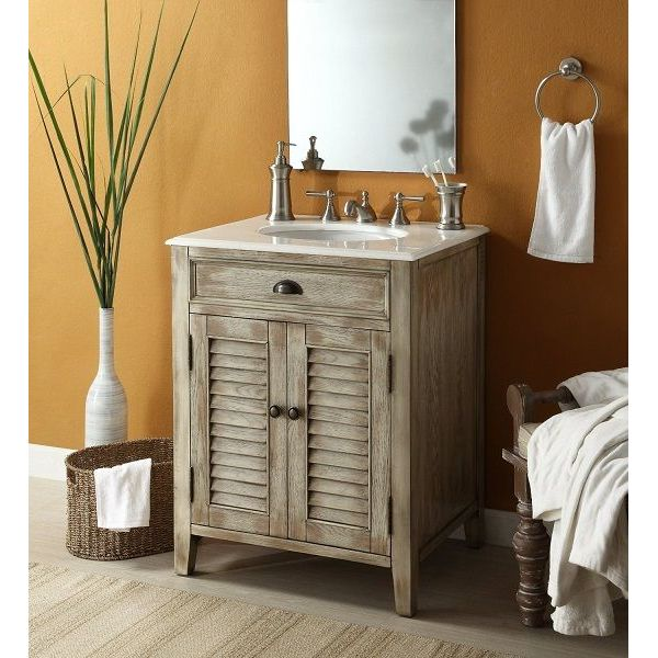26-inch Cottage-Look Abbeville Bathroom Sink Vanity