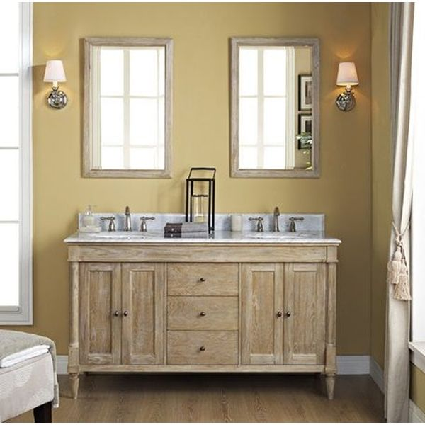 Fairmont Designs Rustic Chic 60-Inch Vanity Double Bowl in Weathered Oak
