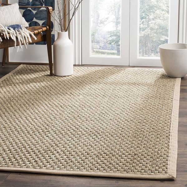 Safavieh Natural Fiber Collection Basketweave Seagrass Rug