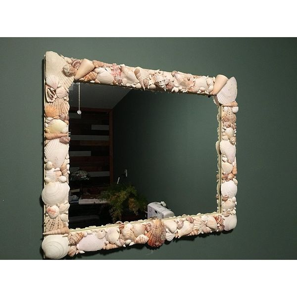 Shore Crafts Seashell Mirror