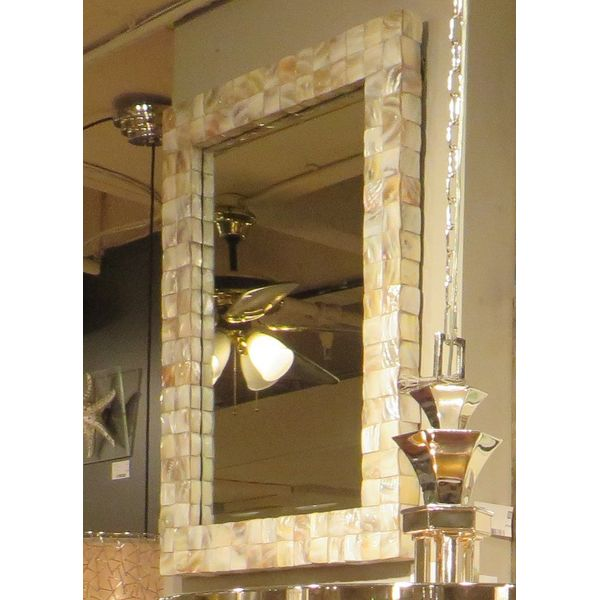 Shore Crafts Seashell Mirror