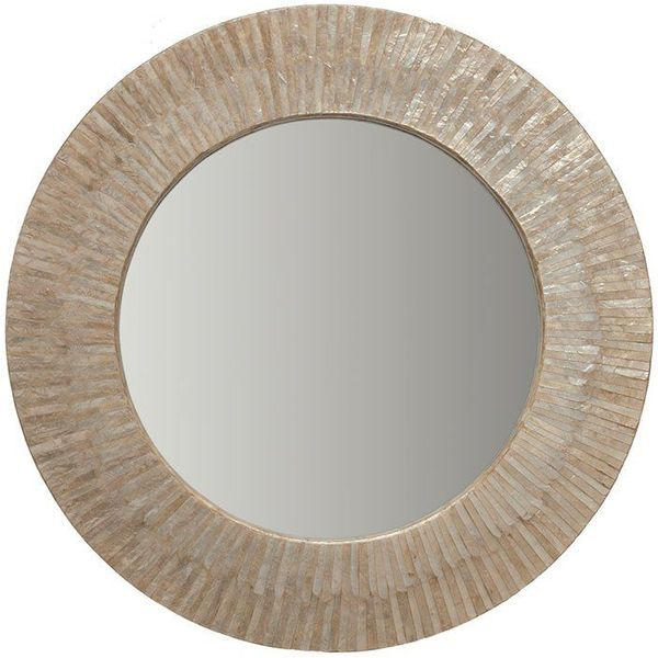 KOUBOO Round Capiz Seashell Wall Mirror
